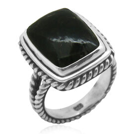 Royal Bali Collection Siberian Seraphinite (Cush) Solitaire Ring in Sterling Silver 7.701 Ct.