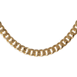 One Off Deal - JCK Vegas Collection 9K Y Gold Curb Necklace (Size 20), Gold wt 23.00 Gms.