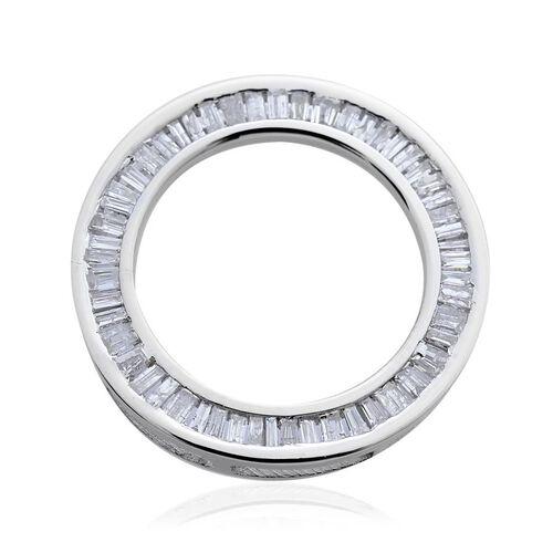 9K W Gold SGL Certified Diamond (Bgt) (I 3/G-H) Circle of Life Pendant 0.500 Ct.