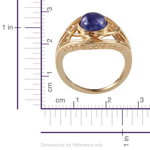 Tanzanite (Ovl) Solitaire Ring in 14K Gold Overlay Sterling Silver 2.750 Ct.