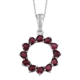 Mahenge Spinel (Pear) Pendant With Chain in Platinum Overlay Sterling Silver 2.250 Ct.