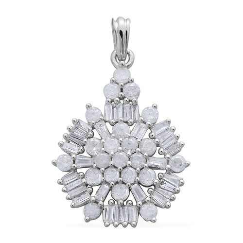 9K W Gold SGL Certified Diamond (Rnd) (I3/G-H) Pendant 1.000 Ct.