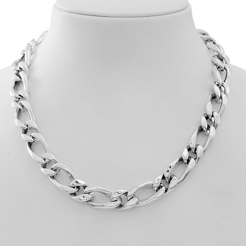 Statement Collection-Sterling Silver Curb Necklace (Size 20), Silver wt 58.94 Gms.