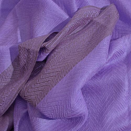 100% Cashmere Wool Purple Colour Scarf (Size 200x70 Cm)