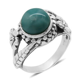 Royal Bali Collection Larimar (Rnd) Solitaire Ring in Sterling Silver 5.010 Ct.