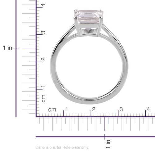 White Topaz (Oct) Solitaire Ring in Sterling Silver 2.000 Ct.
