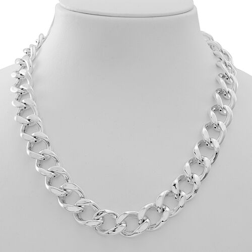 Statement Collection Sterling Silver Curb Necklace (Size 20), Silver wt 55.32 Gms.