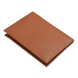 Genuine Leather RFID Blocker Wallet with Card Holder in Tan Colour (Size 15.5x11.5 Cm)