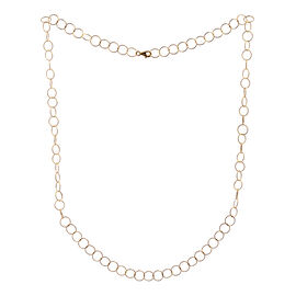 Close Out Deal 14K Gold Overlay Sterling Silver Giotto Chain (Size 30), Silver wt 8.70 Gms.