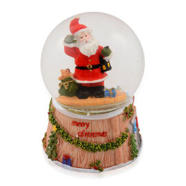 Moving Musical Multi Colour Lighted Santa Water Globe