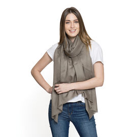 OTO - 100% Fine Cashmere Wool - Hand Loomed Chocolate Shawl (Size 200 x 70 Cm)