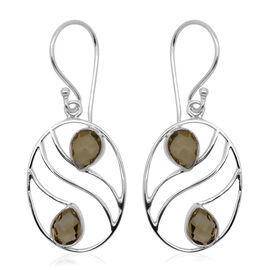 Royal Bali Collection Citrine (Pear) Hook Earrings in Sterling Silver 3.00 Ct.