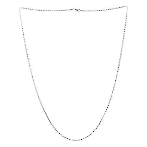 Sterling Silver Mirror Popcorn Chain (Size 30), Silver wt 10.30 Gms.