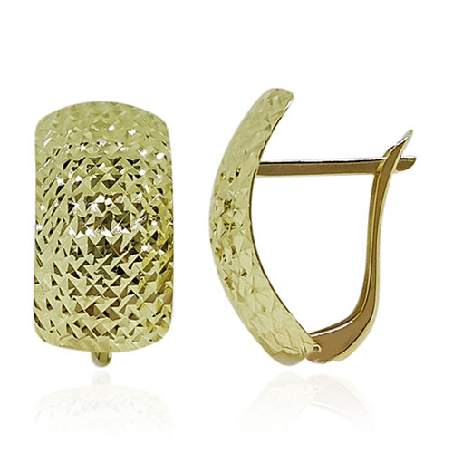 9K Y Gold Earrings (with Clasp) 1.63GMS