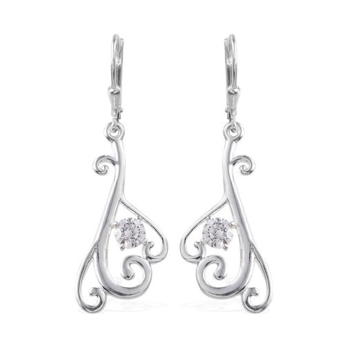 J Francis - Sterling Silver (Rnd) Earrings Made with SWAROVSKI ZIRCONIA