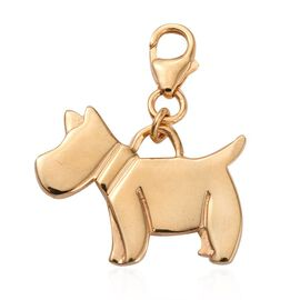 14K Gold Overlay Sterling Silver Scottish Terrier Charm, Silver wt 3.16 Gms.