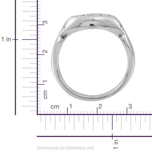 Statement Collection Sterling Silver Fleur De Lis Ring, Silver wt 4.82 Gms.