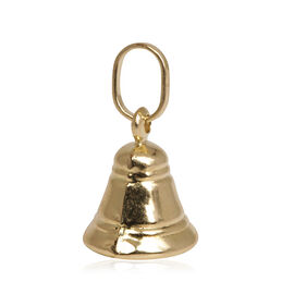 9K Yellow Gold Bell Charm Pendant