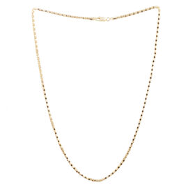 14K Gold Overlay Sterling Silver Mirror Popcorn Chain (Size 20), Silver wt 6.50 Gms.