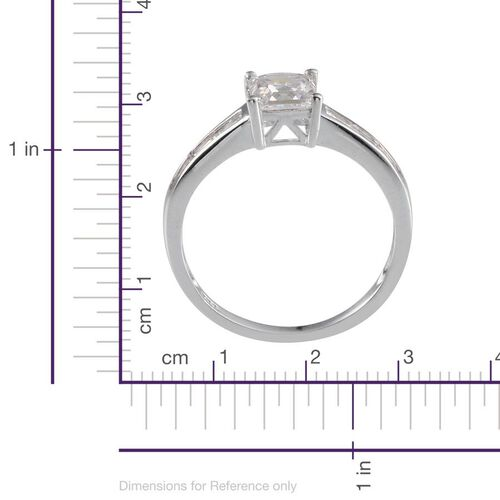 J Francis - Platinum Overlay Sterling Silver (Sqr) Ring Made With SWAROVSKI ZIRCONIA 1.720 Ct.