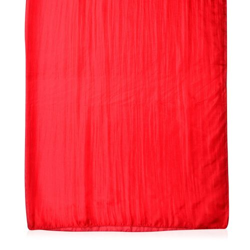 New Season- 100% Mulberry Silk Red Colour Scarf (Size 180X100 Cm)