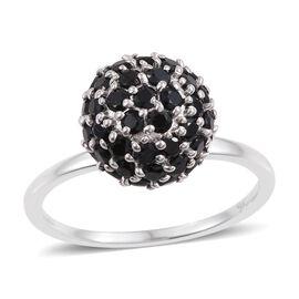 9K White Gold 2.75 Carat Boi Ploi Black Spinel Ball Ring