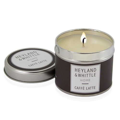 Heyland and Whittle Caffe Latte Candle in a Tin 180g