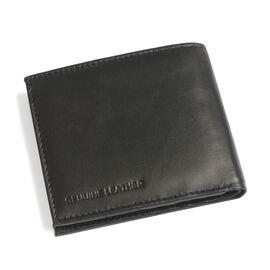 100% Genuine Leather Black Colour RFID Blocker Multi Utility Wallet (Size 12x10 Cm)
