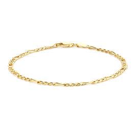 Vicenza Collection 9K Y Gold Figaro Bracelet (Size 7.25), Gold wt 1.55 Gms.
