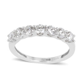 ILIANA 18K W Gold IGI Certified Diamond (Rnd) (SI/ G-H) 7 Stone Ring 1.000 Ct.