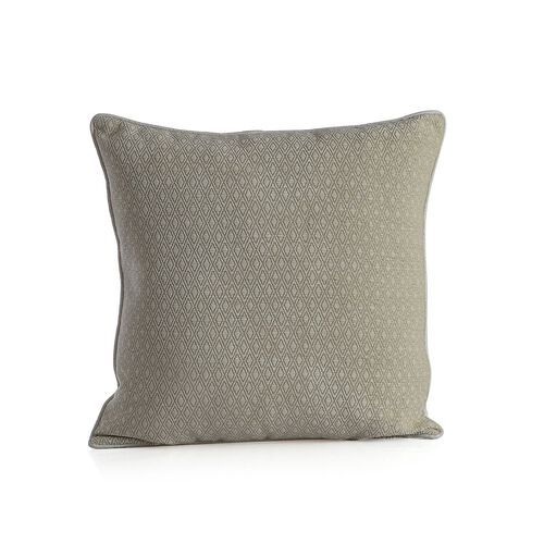 Diamond Pattern Champagne Cushion (Size 43x43 Cm)
