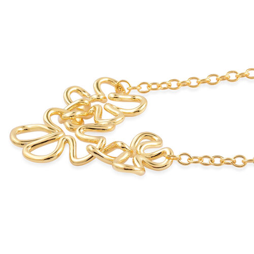 LucyQ Splash Necklace (Size 21) in Yellow Gold Overlay Sterling Silver 32.08 Gms.