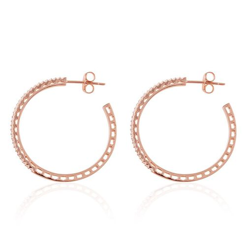 ELANZA AAA Simulated White Diamond (Rnd) Earrings in Rose Gold Overlay Sterling Silver