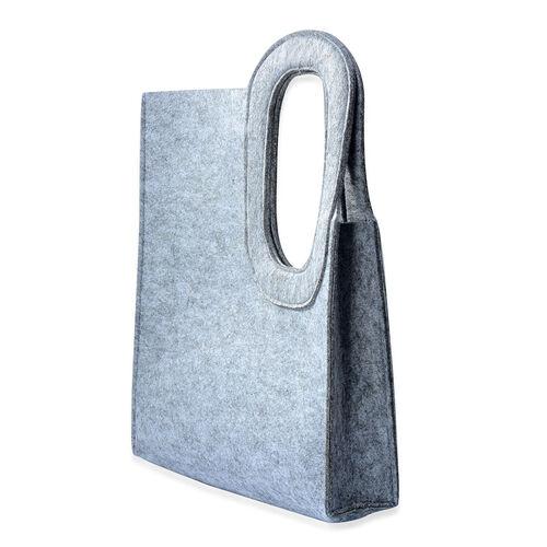 Grey Colour Felt Bag