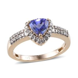 Close Out Deal 14K Y Gold AA Tanzanite (Trl 0.75 Ct), Diamond Ring 1.00 Ct.