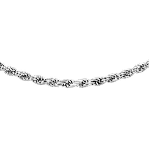 Close Out Deal 9K White Gold Rope Chain (Size 22), Gold wt. 5.10 Gms.