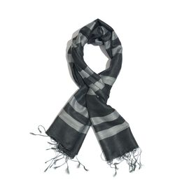 Black and Grey Colour Scarf (Size 180x70 Cm)