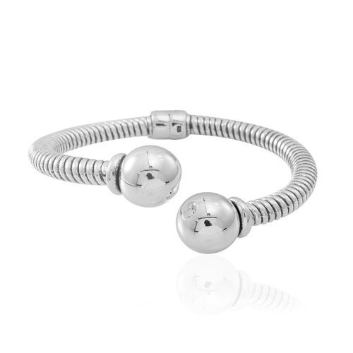 Statement Collection Sterling Silver Tourque Bangle (Size 7.5), Silver wt 23.40 Gms.