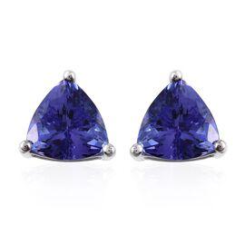 ILIANA 18K W Gold AAA Tanzanite (Trl) Stud Earrings (with Screw Back) 2.000 Ct.