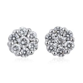 RHAPSODY 950 Platinum 1 Carat IGI Certified Diamond (VS/E-F) Stud Earrings with Screw Back
