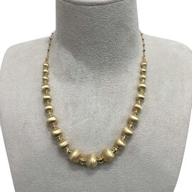 9K Y Gold Beads Necklace (Size 18 with 1.5 inch Extender), Gold 13.76 Gms.