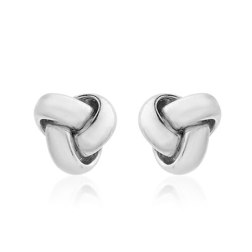 Close Out Deal ILIANA 18K W Gold Triple Knot Stud Earrings (with Push Back)