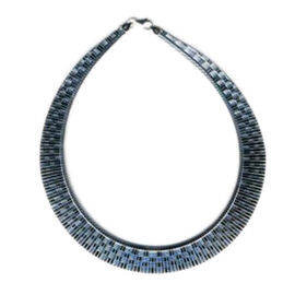 Vicenza Collection Sterling Silver Cleopatra Necklace (Size 17), Silver wt 38.00 Gms.