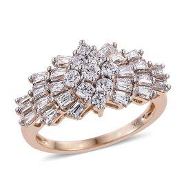 9K Y Gold (Rnd) Ballerina Ring Made with SWAROVSKI ZIRCONIA