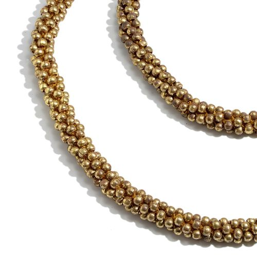 Close Out Deal Jewels of India Handicraft Goldtone Beads Necklace (Size 50)