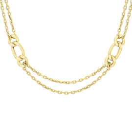 Close Out Deal Italian 9K Y Gold Figaro Belcher Necklace (Size 24), Gold wt 14.50 Gms.