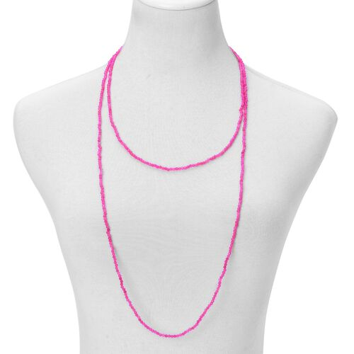 Fuschia Agate Necklace (Size 60) 93.000 Ct.