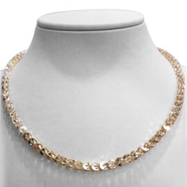 Vicenza Collection 9K Y Gold Sparkle Necklace (Size 18), Gold wt 8.30 Gms.