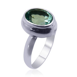Bali Collection Signity Turquoise Blue Topaz (Ovl) Ring in Sterling Silver 6.470 Ct.
