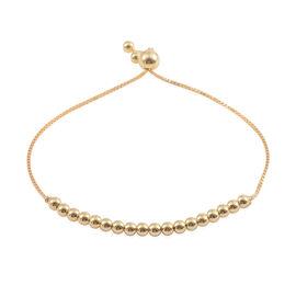 JCK Vegas Collection 14K Gold Overlay Sterling Silver Adjustable Ball Beads Bracelet